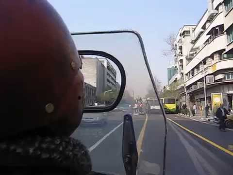 Action movie!!! Stant motorbike taxi in Tehran, Iran