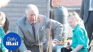 Prince Charles visits Bletchingdon Parochial School in Oxfordshire