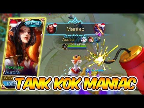 MERCON AURORA BIKIN TEMEN AUTO MANIAC! - Mobile Legends Indonesia