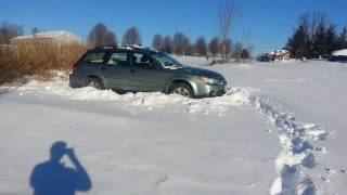 Breaking tracks in deep snow with 09 Subaru Outback (manual transmission)