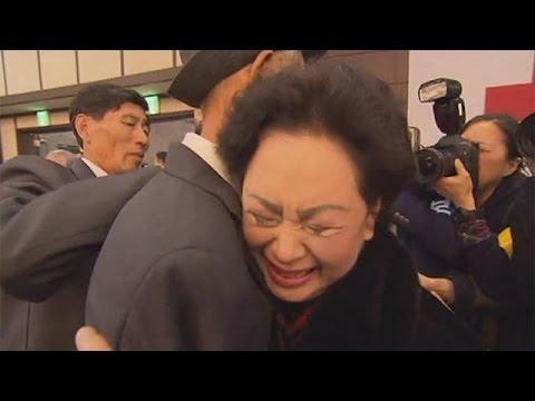 Emotional reunions for Korean families - no comment