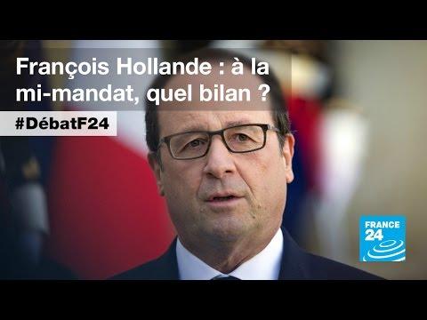 François Hollande à mi-mandat : 90 minutes pour défendre son bilan (partie 1) - #DébatF24