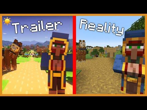 ☀️ MINECRAFT 1.14 : Trailer Vs Reality