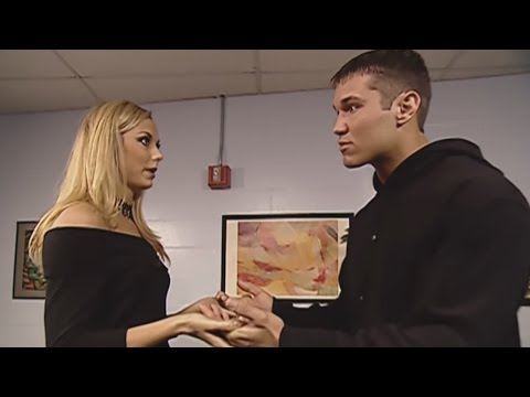 Mr. McMahon catches Randy Orton and Stacy Keibler getting cozy backstage: SmackDown, April 25, 2002