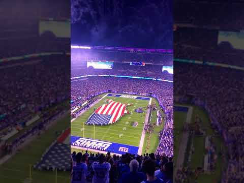 Amazing opening show of the NFL Monday Night Football on 18 September 2017