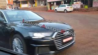 2019 Audi A6 caught testing in Mahabaleshwar
