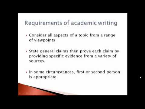 academic essay writing 3rd person