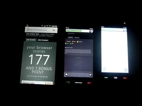 Android v2.3 vs Symbian Anna  vs Symbian S60v5 - NAVEGADOR WEB
