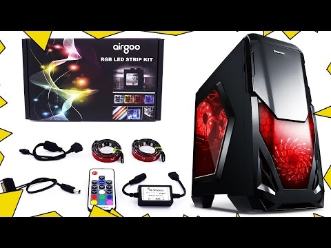 How to Install  RGB LED Light Strip on PC Case