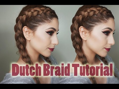 How to Dutch Braid Your Own Hair   Step By Step For Beginners ❥