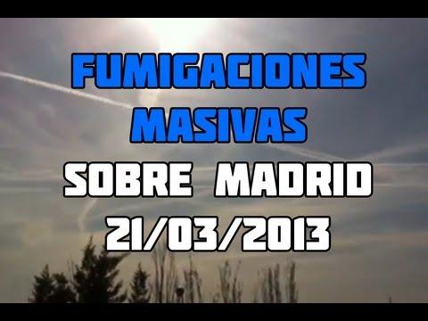 Chemtrails Masivos en Madrid 21 de Marzo del 2013. NO ES QUE NOS FUMIGUEN ES QUE NOS MASACRAN!!!