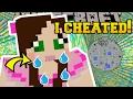Minecraft: I CHEATED!!! - The Drop - Custom Map