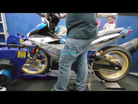 Yamaha Y15ZR Leo Vince Exhaust ApiTech ECU Dyno Tuning - Motodynamics Technology Malaysia