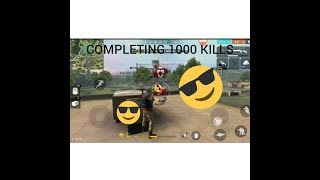 Completing 1000 kills in Free Fire Battlegrounds (Including my stats reveal) Highlights #3 !!!!!!!!!