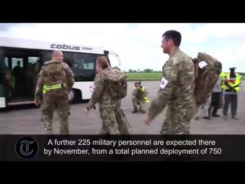 British Army medics arrive in Sierra Leone to fight Ebola