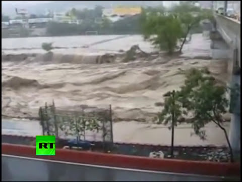 New video of flood in Monterrey, Nuevo Leon as death toll rises