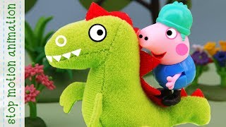 New toy of George. Peppa Pig toys. Stop motion animation new episodes 2018