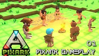PixARK: NEW JOURNEY BEGINS ALPHA TRIBE E01 !!! ( Pix ARK GAMEPLAY )