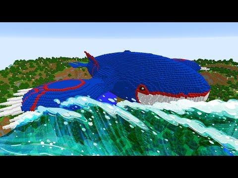 MINECRAFT vs POKEMON GO : GIGA KYOGRE  VS REZENDE !!!