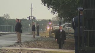 Carrying George H.W. Bush, 'Locomotive 4141' arrives in College Station