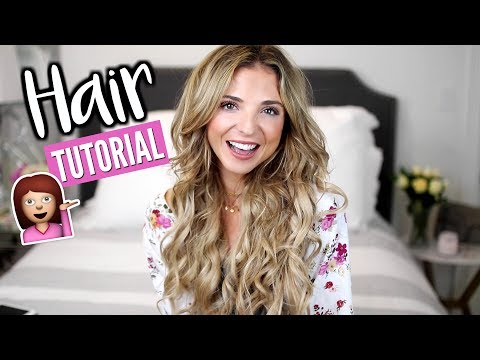 How I Curl My Hair with a Curling Wand!   Hair Tutorial