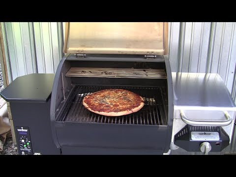 Camp Chef & Traeger pellet grills side by side baking pizzas July 2017 HD