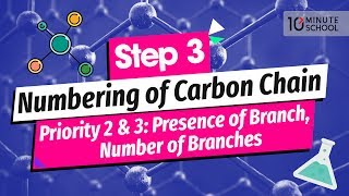 08. Step 3: Numbering of Carbon Chain – Priority 2 & 3: Presence of Branch, Number of Branches