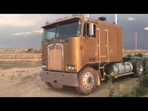 Driving and shifting a 1987 Kenworth K100 cab over   3406 Catapillar   13-Speed