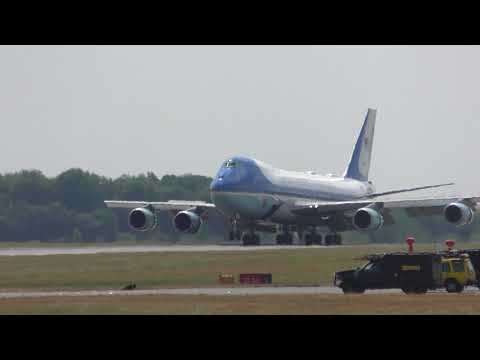US President Donald Trump lands in London England on Air Force One 12 July 2018 152p