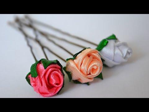 Цветы на шпильку своими руками 63