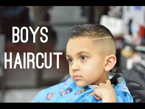 little boys haircut   Fading and Haircut techniques on kids hair!