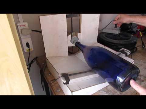 Maquina de cortar garrafas de vidro automatica