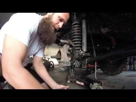 HOW TO: Front Dana 30 D30 Axle Replacement XJ TJ
