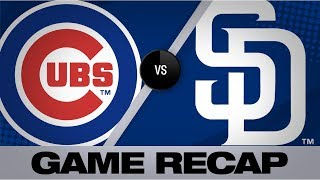 Paddack, Margot lead Padres in shutout win | Cubs-Padres Game Highlights 9/11/19