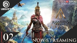 Assassin's Creed Odyssey | LIVE STREAM 02 | Let's Play | Hard Mode