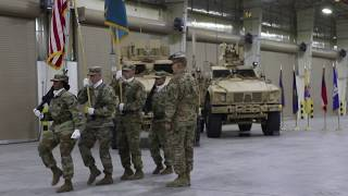 Soldiers with 401st Army Field Support Battalion Participate in Relinquishment of Authority Ceremony