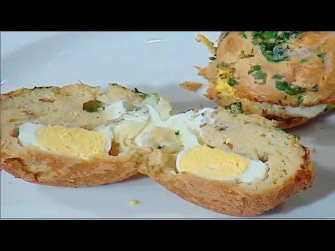 خبز البيض الكوري الشيف #وحيد_كمال  من برنامج #الفطاطرى #فوود