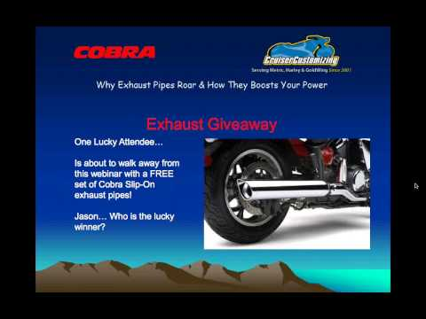 Cobra Webinar Why Exhaust Pipes Roar How it Boosts Your Power