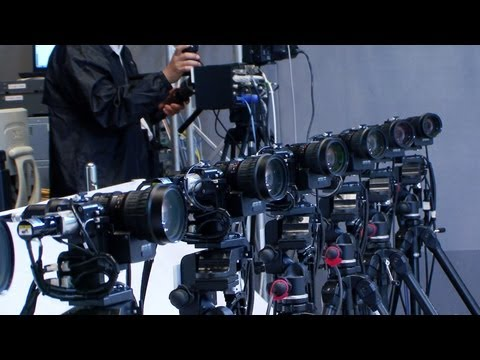 Multi-viewpoint robotic camera system creates real  bullet time  slow motion replays #DigInfo