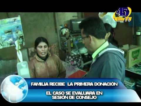 FAMILIA RECIBE LA PRIMERA DONACIÓN SIN MUSICA