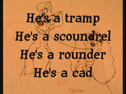 He's A Tramp with Lyrics - Lady and the Tramp