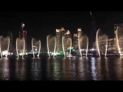 Dubai Fountains during Festival of Lights