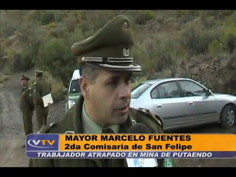 TRABAJADOR ATRAPADO EN MINA DE PUTAENDO