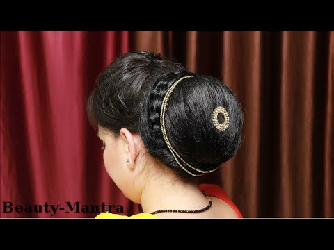 Hairstyle How To Do A Simple Indian JuraBun YouTube
