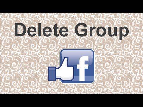 Delete Facebook group - 2015