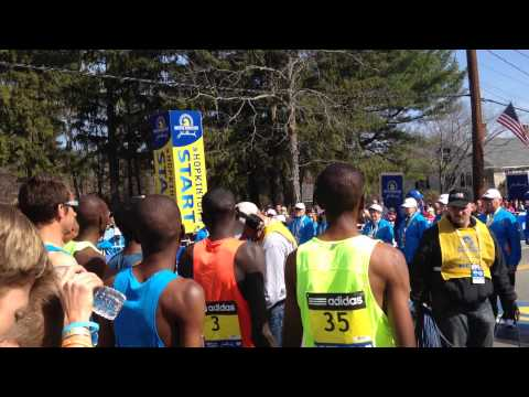 Boston Marathon Starting Line 2014