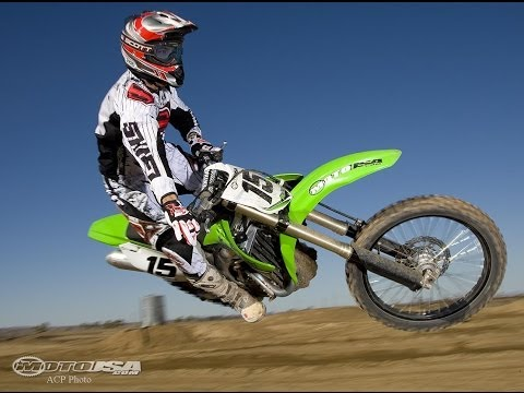 2009 Kawasaki KX450F Motocross Dirt Bike Comparison Video