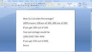 How To Calculate Percentage?