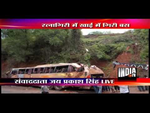 2 killed as Mumbai-Goa tourist Volvo Bus falls on hilly slope