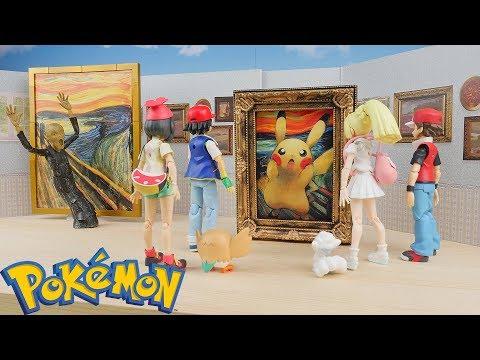 "Pokemon ""The Scream"" Museum | Stop Motion (Edvard Munch)"